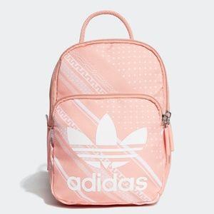 Adidas Pink Bandana Print Mini Logo Backpack